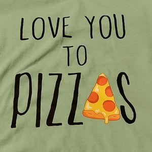 Love you to pizzas small tshirt